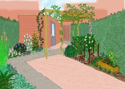 Veel terras en maximaal groen en kleur jegroenadvies