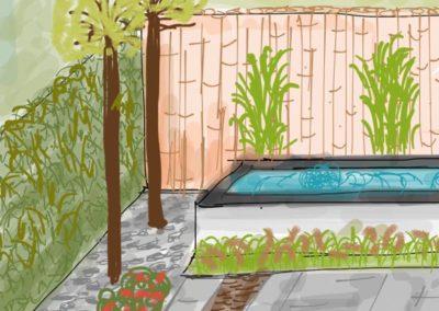 moderne strakke tuin 3d detail jegroenadvies